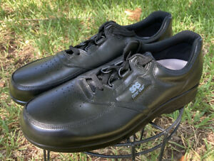 NEW-SAS-Time-Out-Black-Leather-Mens-Diabetic-Lace-Up-Comfort-Shoes-Sz-11-Narrow