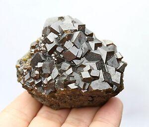376g Natural Andradite Garnet Crystal Cluster Quartz Inner Mongolia China