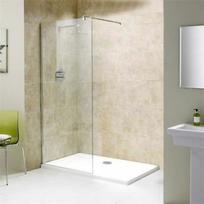 Walk In Wet Room Shower Enclosure And Tray Cubicle 8mm Easy Glass Screen Panel