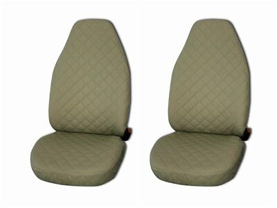 VOLVO V70 ALL MODELS PREMIUM DELUXE BEIGE LEATHER LOOK CAR SEAT COVERS 1-1