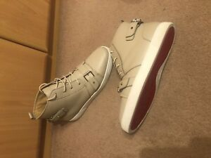 promo code 45526 88d2b Details about Christian Louboutin Mens Red-Bottom High-Top Trainer Sneaker  (Size 44.5)