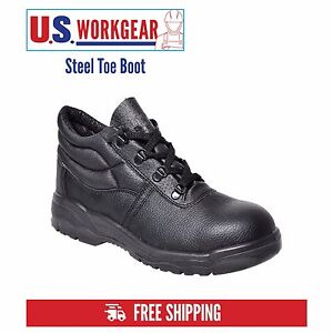 Portwest Work Boot Shoe Men Safety Leather Steel Toe Cap Midsole ...