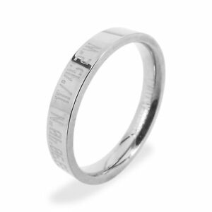 Valentine-039-s-Day-Gift-Coordinate-Ring-Ring-Custom-Engravable-Titanium-Ring-AA4825