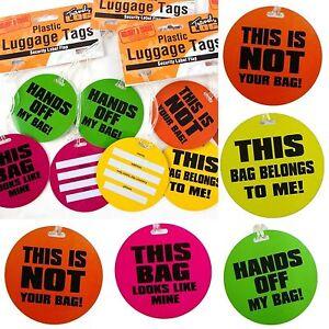 Pack de 2 de comique nouveauté neon bagages securetags - 078/349  </span>