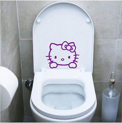 Accessori Hello Kitty Bagno.Wall Stickers Adesivo Wc Hello Kitty Sanitari Locali Bagno Water Toilette Ebay