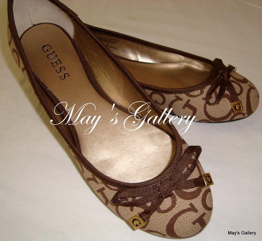 GUESS GUESS GUESS Jeans zapatos planos pisos talón Flip Flops sandalias Flop zapato punta Ballet Sz 6.5  Garantía 100% de ajuste
