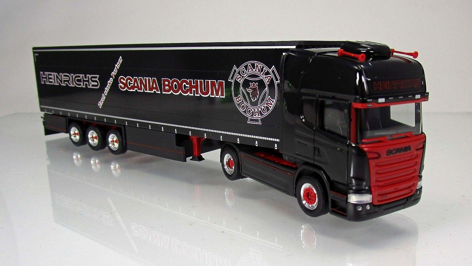 Herpa 306669 SCANIA R Modèle 2013 Topline rideaux planifier camion d'Henri 1 87 NOUVEAU