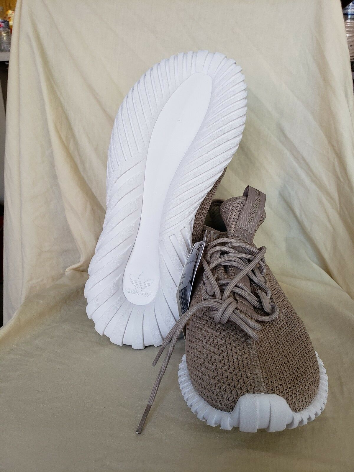 best service 14728 d048d Adidas Originals Khaki BY3562 White Crystal Trace Primeknit ...