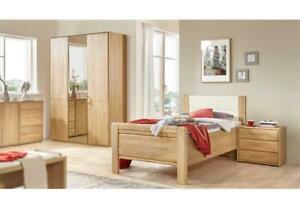 Komfort Schlafzimmer Lido Bett Kleiderschrank Nachtkommode in Eiche ...