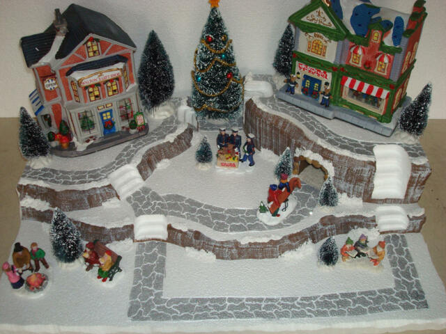 Christmas Village Display.Christmas Village Display Base Platform J21 For Lemax Dept 56 Dickens More