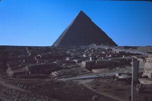 Great Sphinx of Giza Cairo Egypt Outskirts 1965 60s Vintage Kodachrome Slide