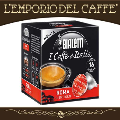 Coffee Bialetti Mixture Roma Taste Forte Intenso 128 capsules - 100% Originale