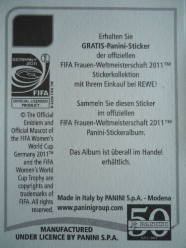 Panini Ali Riley Neuseeland FIFA Frauen WM 2011 Germany