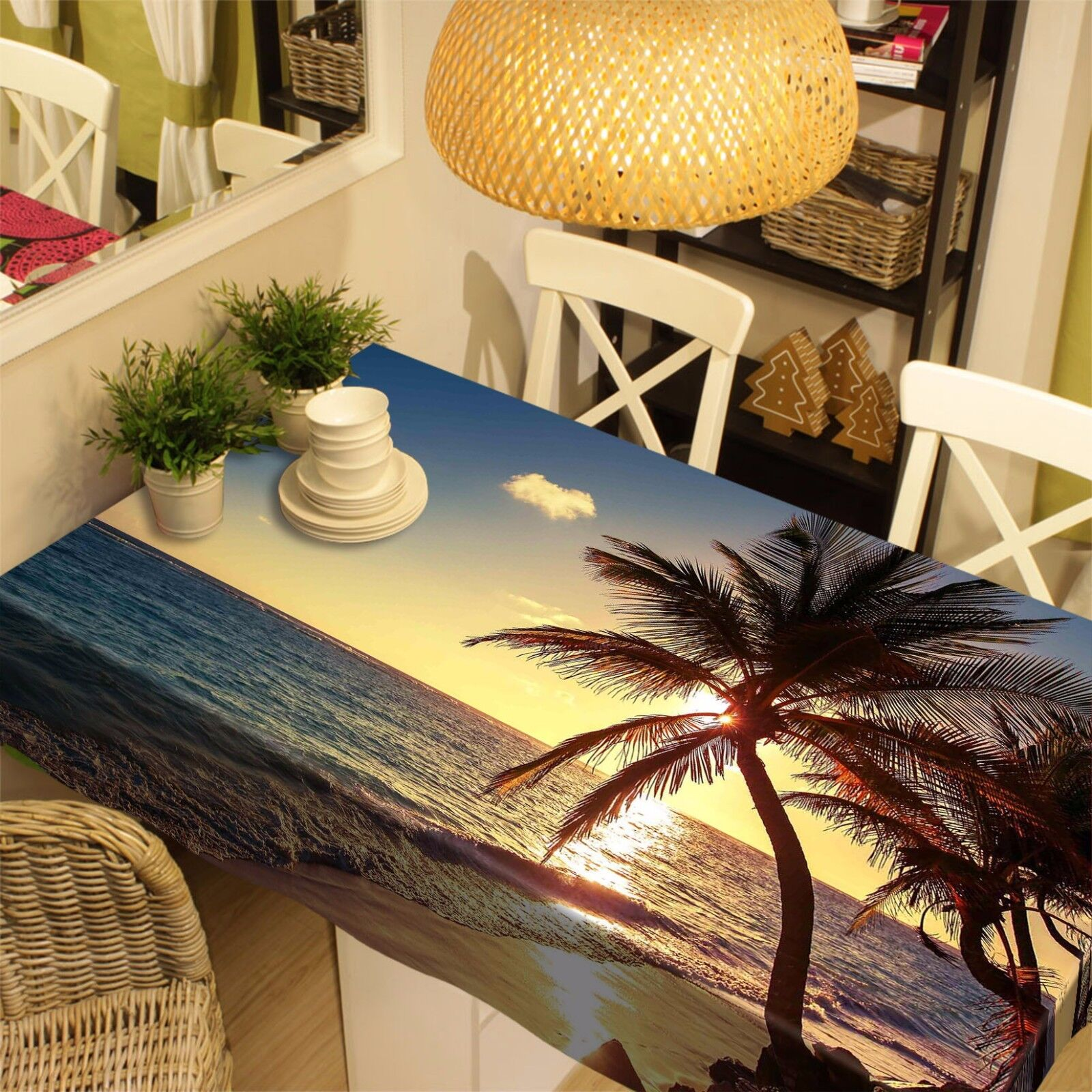 3D Sea sun 908 Tablecloth Table Cover Cloth Birthday Party Event AJ WALLPAPER UK