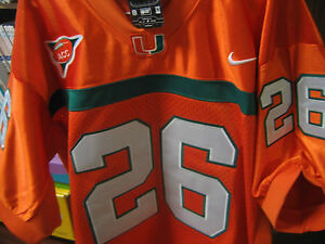 new product 40027 5378e Details about MIAMI HURRICANES #26 SEAN TAYLOR COLLEGE THROWBACK ALL SEWN  JERSEY MEN redskin