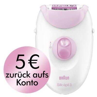 Braun Silk-épil 3 Legs & Body Epilierer 3270, mit Rasieraufsatz, pink, neu/OVP