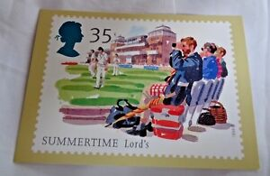 Royal-Mail-Post-Card-Summertime-Lord-039-s-PHQ-164-d-35p-Matthew-Cook-Design