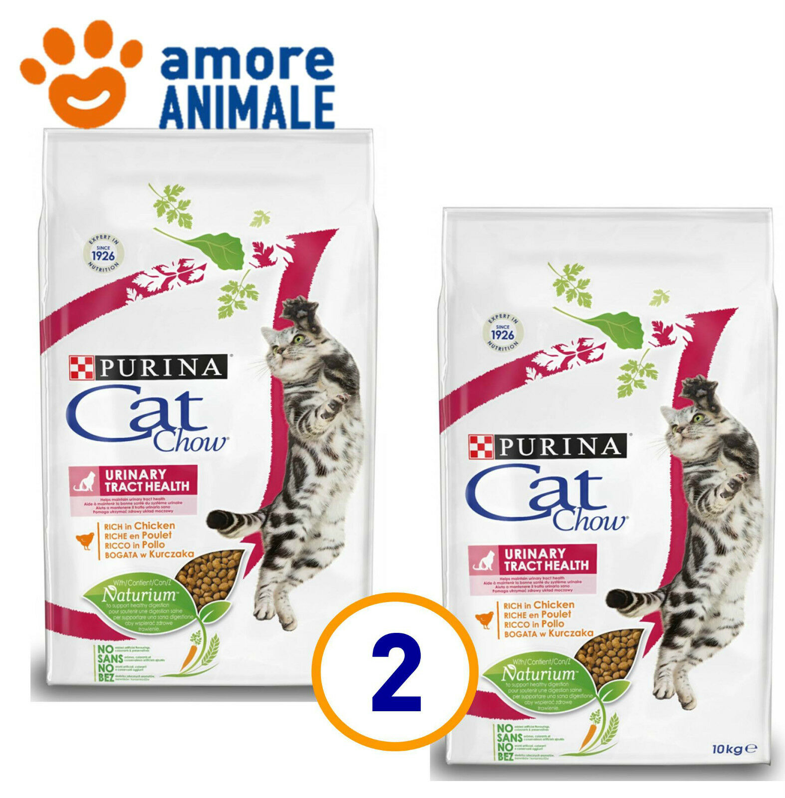 2 SAC   Purina Tonus Cat Chow Urinary Tract Health 10 Kg