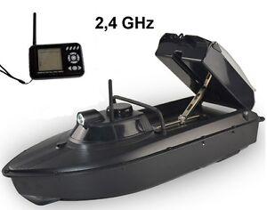 RC-Futterboot-Koederboot-Baitboat-V3-mit-Sonar-Echolot-2kg-Futter-Zuladung-NEU