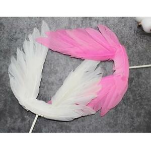 Image Is Loading New Beautiful White Pink Angel Feather Wedding Cake