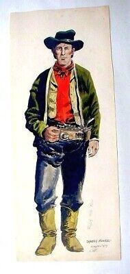 Into the sunset cowgirl gunslinger western comics 11x17 pinup art Dan DeMille