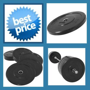 BLACK-10KG-A-GRADE-CLUB-Series-Olympic-Size-RUBBER-BUMPER-GYM-WEIGHT-PLATE