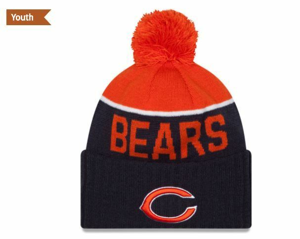 4c4529e50ee ... discount code for youth chicago bears era knit hat on field sideline  stocking cap 2015 ebay