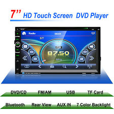 """7"""" HD Touch Screen Double 2 DIN Car Stereo DVD MP3 Player Bluetooth Radio Video"""