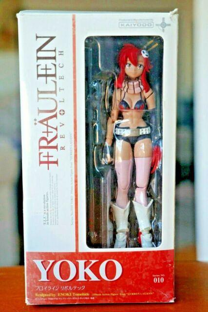 USED Fraulein Revoltech No.10 Gurren Lagann Yoko Figure Kaiyodo