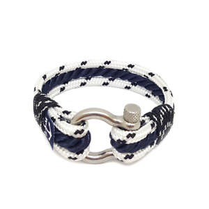 Nautical-Rope-Bracelet-Sailing-Mens-Womens-Handmade-Summer-bracelet-WHITE-BLUE