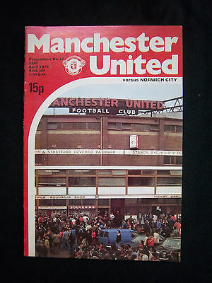 Brillant Orig.prg England 1.division 1978/79 Manchester United Fc - Norwich City Fc ! GroßEr Ausverkauf