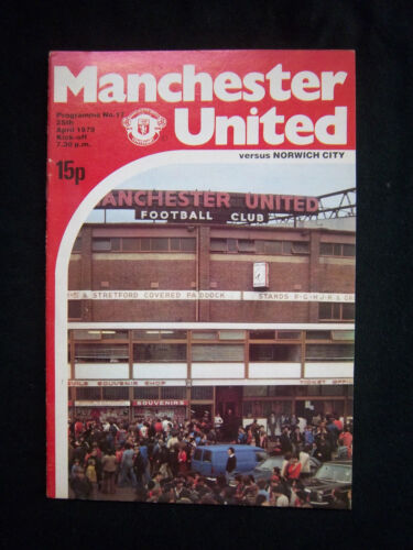 Orig.PRG   England 1.Division  1978/79  MANCHESTER UNITED FC - NORWICH CITY FC !