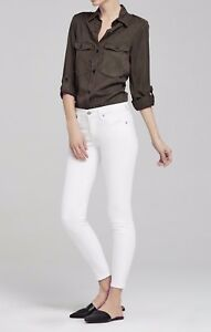 af794ea3cc1 Citizens of Humanity Rocket Crop High Rise Skinny Jeans Optic White ...