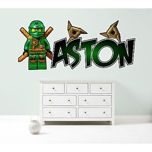 Stupendous Details About Lego Ninjago Lloyd Personalised Wall Sticker Childrens Bedroom Decal Art 3 Size Download Free Architecture Designs Scobabritishbridgeorg