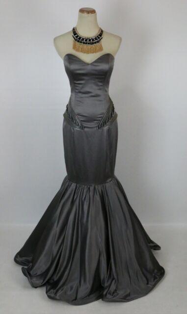 4581addb2e4b6 NEW $640 Jovani Gray Size 6 Prom Formal Evening Mermaid Long Cruise Dress  Jovani