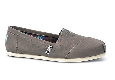 TOMS Womens Classics Canvas Espadrilles Ash Grey Various Sizes