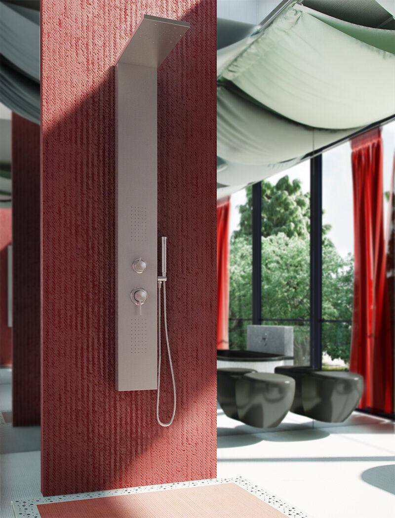712 Aluminium Panneau de douche jets de massage, de 2 couleurs B&S tour colonne