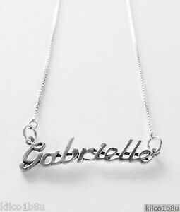 59e5c023d4793 Details about 925 Sterling Silver Name Necklace - Name Plate - GABRIELLE  17