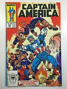Captain-America-Vol-1-335-Comic-Book-1987-Marvel-Avengers-John-Walker