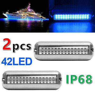 "2PCS 3.5/"" Blau LED 50W Bootsbeleuchtung Unterwasser Beleuchtung Hecklicht Lampe"