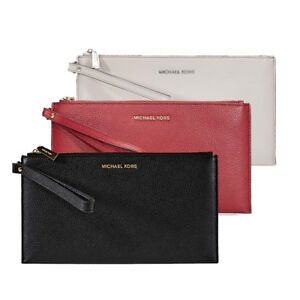 Michael-Kors-Mercer-Large-Leather-Wristlet-Choose-color
