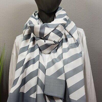 100% Vero Gemello Cuore Panno Sciarpa Fasciatoio Panno Stola Elegante-mostra Il Titolo Originale Bianco Puro E Traslucido