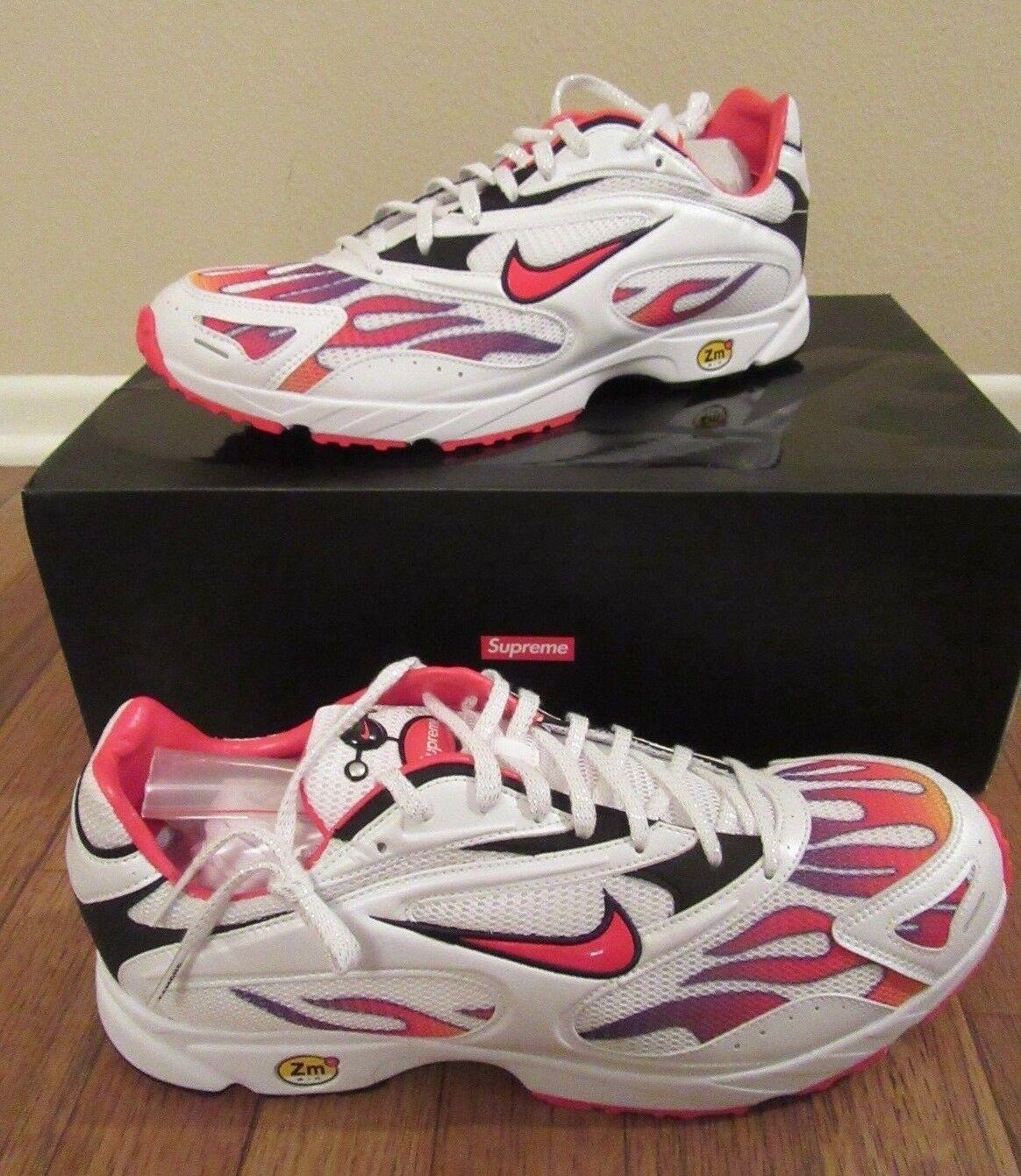 Supreme Nike Air Streak Spectrum Plus Size 11.5 White Habanero Red AQ1279 100 DS
