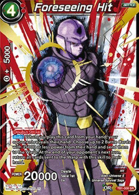 FOIL * TB1-008 SR M//NM DBS Foreseeing Hit 1x Dragon Ball Super