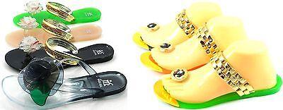Women's Fashion Jelly Gladiator Flip Flop Toe Post Thong Sandal Shoe Sz 5-10