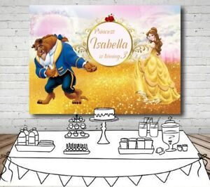Happy-Birthday-Princess-Beauty-and-The-Beast-Photography-Party-Backdrop-For-Girl