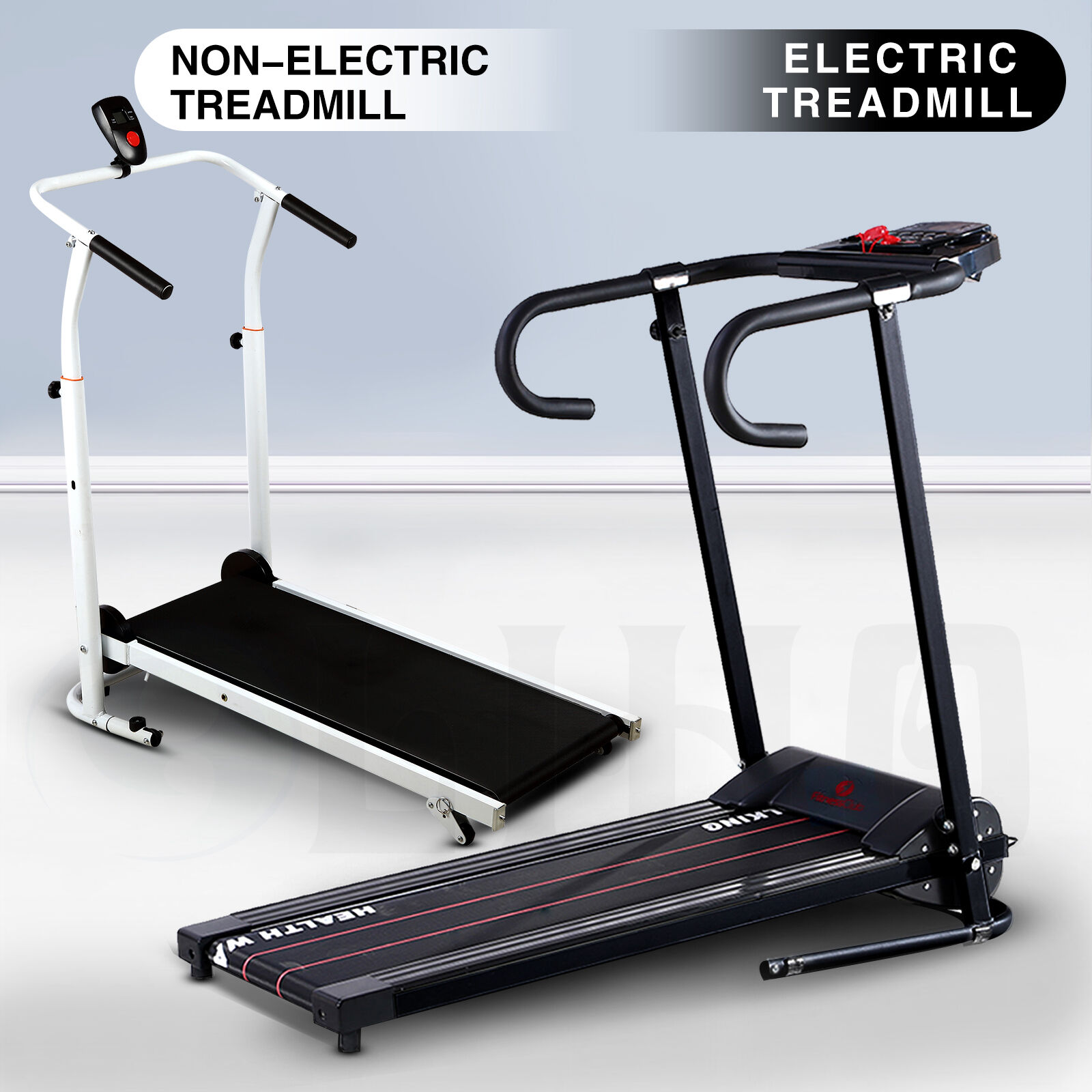 Manual Treadmill Folding Incline Walking Running Exercise
