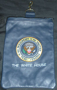 Leather-Presidential-Seal-White-House-Accessory-Bag-Blue