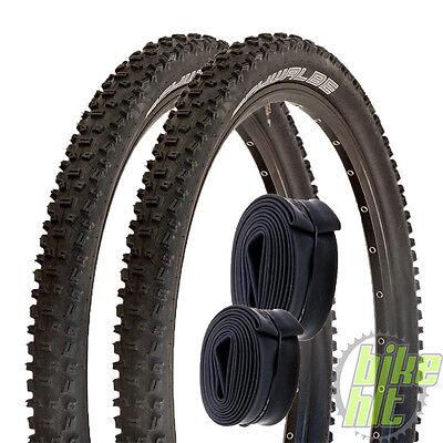 "2x Schwalbe Nobby Nic Fahrrad Reifen 26"" 26 x 2,25 57-559 + 2x Schlauch AV 13"