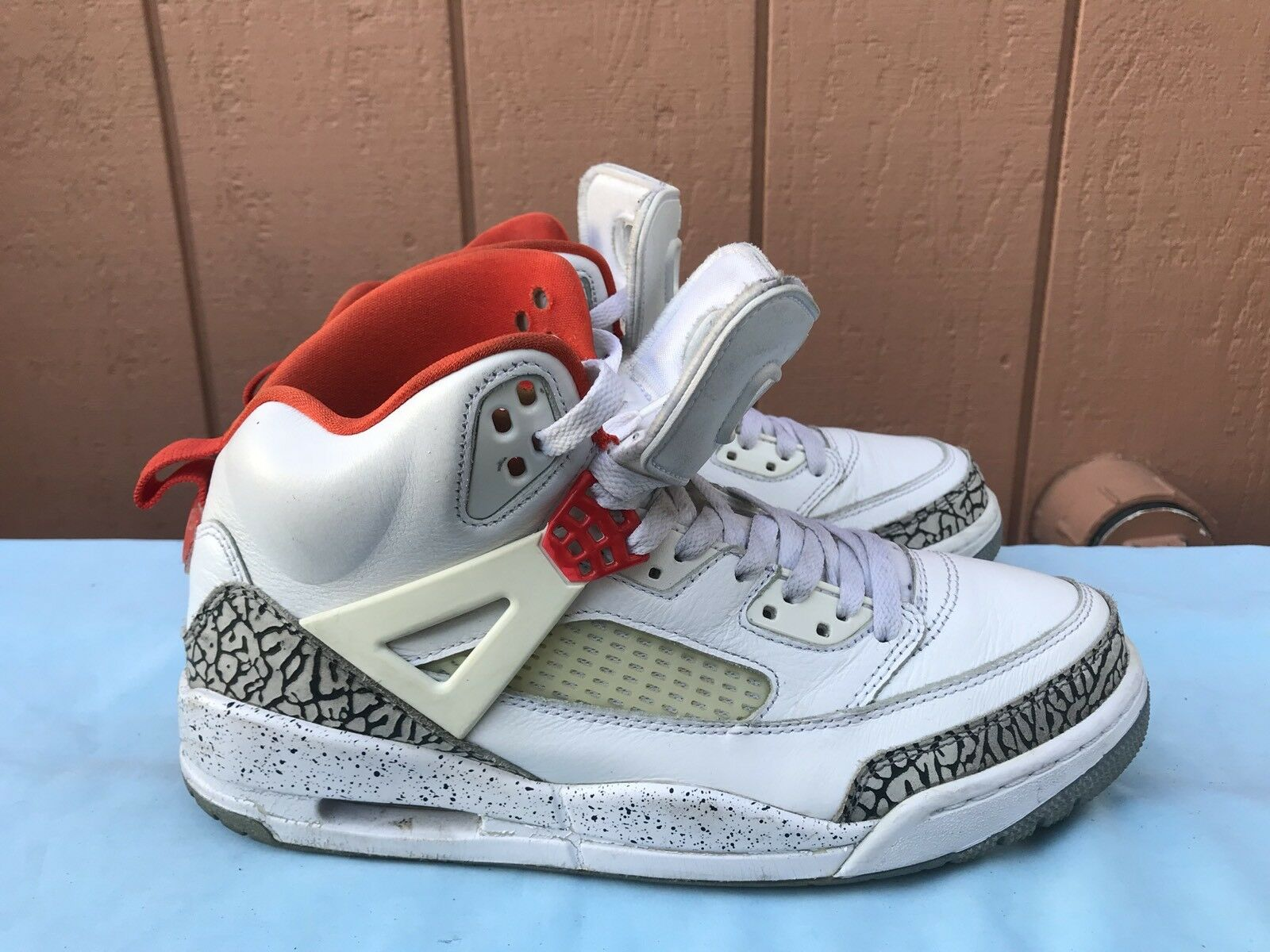 The latest discount shoes for men and women RARE NIKE AIR JORDAN SPIZIKE iD WHITE CEMENT Price reduction